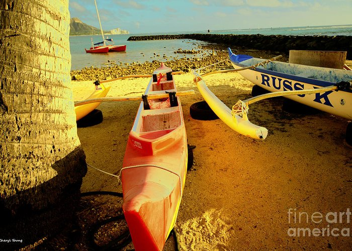 Images Of Ocean Canoes Greeting Card featuring the photograph Russ K by Cheryl Young