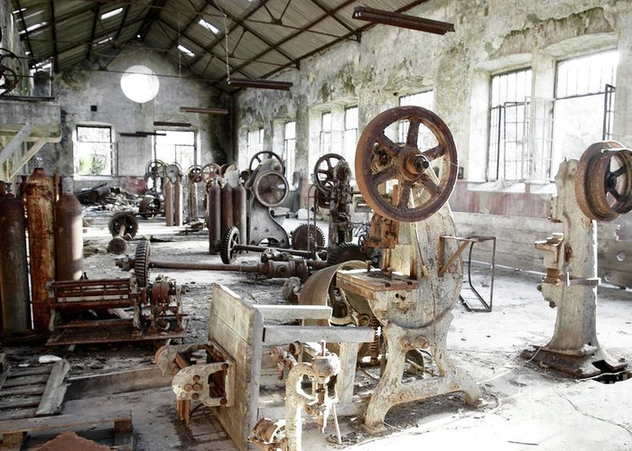 Abandoned Greeting Card featuring the photograph Rusty Machinery by Carlos Caetano