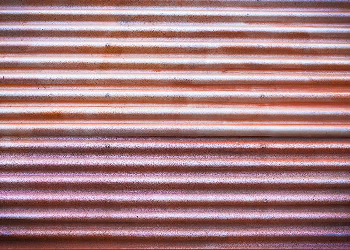 Abstract Greeting Card featuring the photograph Rusty Metal by Tom Gowanlock