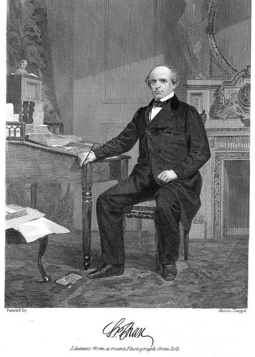 1863 Greeting Card featuring the photograph Salmon Portland Chase by Granger