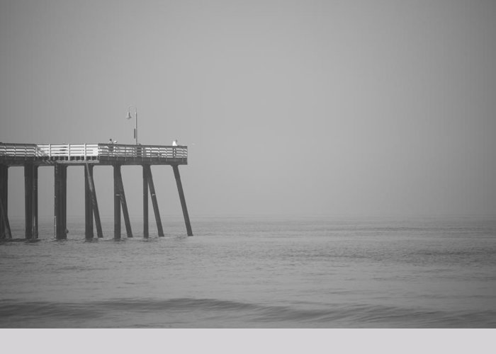 San Clemente Greeting Card featuring the photograph San Clemente Pier by Ralf Kaiser