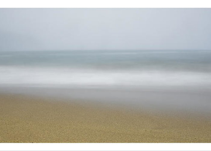 Maine Greeting Card featuring the photograph sand beach in Maine by Chad Tracy