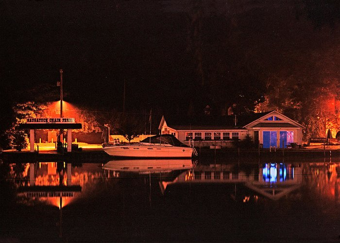 Saugatuck Chain Ferry Greeting Card featuring the photograph Saugatuck Chain Ferry by James Rasmusson