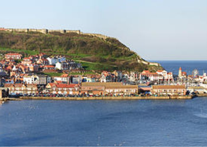 Architecture Greeting Card featuring the photograph Scarborough Panorama by Jane Rix