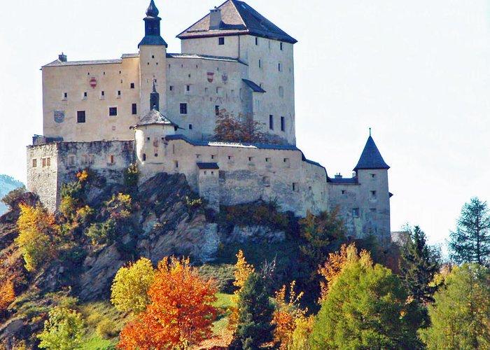Europe Greeting Card featuring the photograph Schloss Tarasp Switzerland by Joseph Hendrix