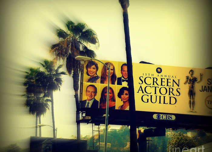 Hollywood Greeting Card featuring the photograph Screen Actors Guild In La by Susanne Van Hulst