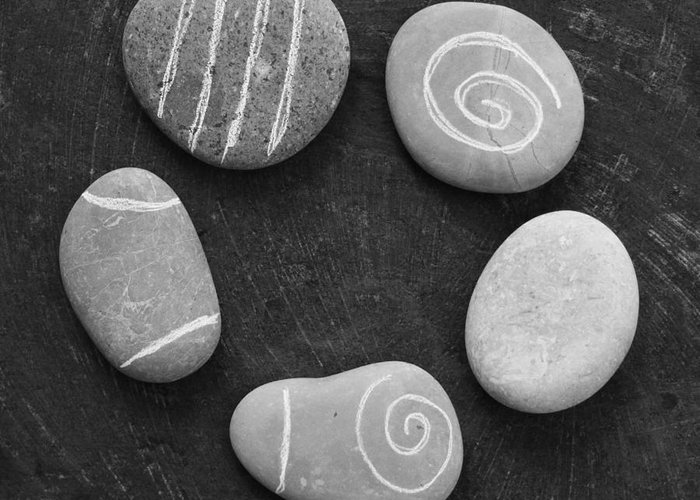 Stones Greeting Card featuring the photograph Serenity Stones by Linda Woods