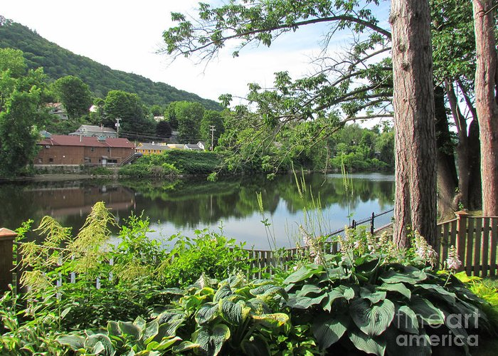 Shelburne Falls Greeting Card featuring the photograph Shelburne Falls by Randi Shenkman