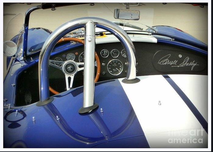 Carroll Shelby Greeting Card featuring the photograph Shelby Signed Cobra by Karyn Robinson