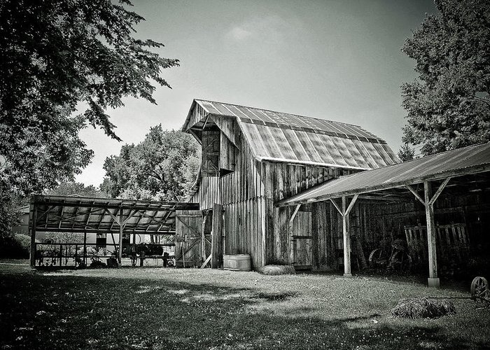 Barn Greeting Card featuring the photograph Shiloh Barn by Toni Hopper
