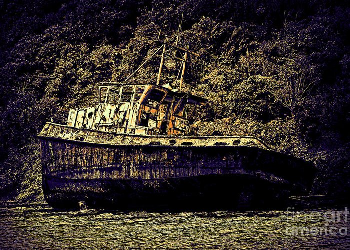 Shipwreck Greeting Card by Tom Prendergast
