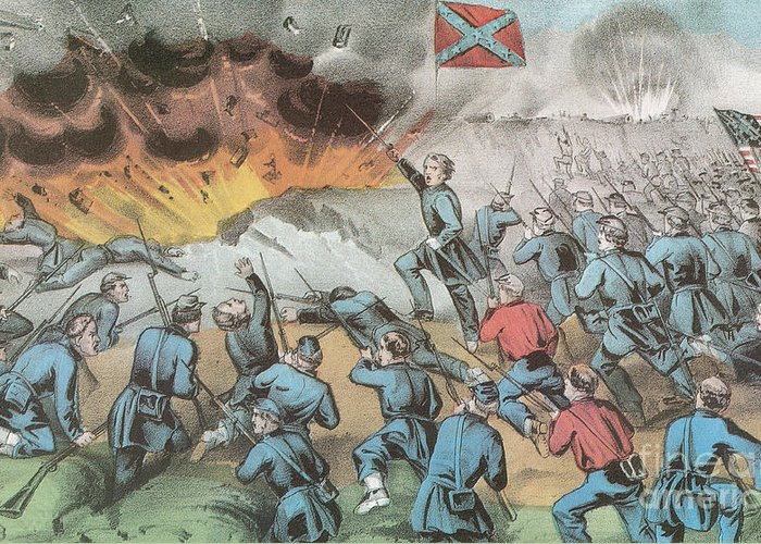America Greeting Card featuring the photograph Siege And Capture Of Vicksburg, 1863 by Photo Researchers