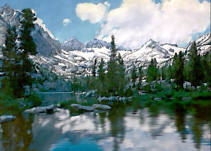 Mountain Greeting Card featuring the photograph Sierra by Kurt Van Wagner