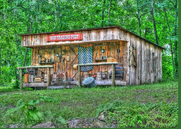historic Site Greeting Card featuring the photograph Silver River Trading Post by Myrna Bradshaw