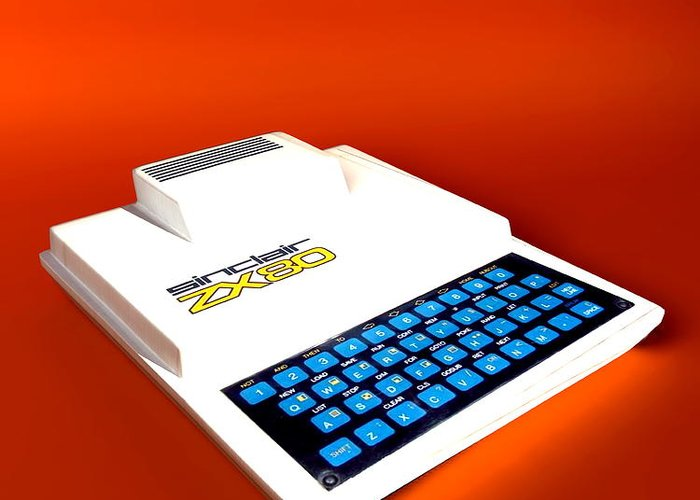 Zx80 Greeting Card featuring the photograph Sinclair Zx80 Personal Computer by Christian Darkin