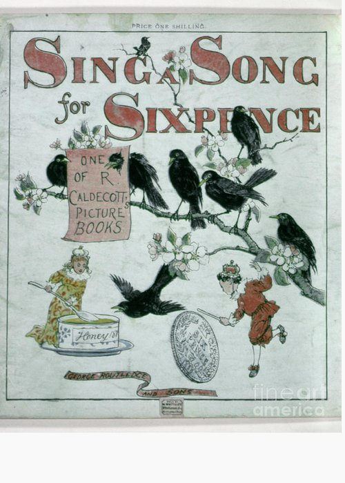 1943 Greeting Card featuring the photograph Sing A Song Of Sixpence by Granger