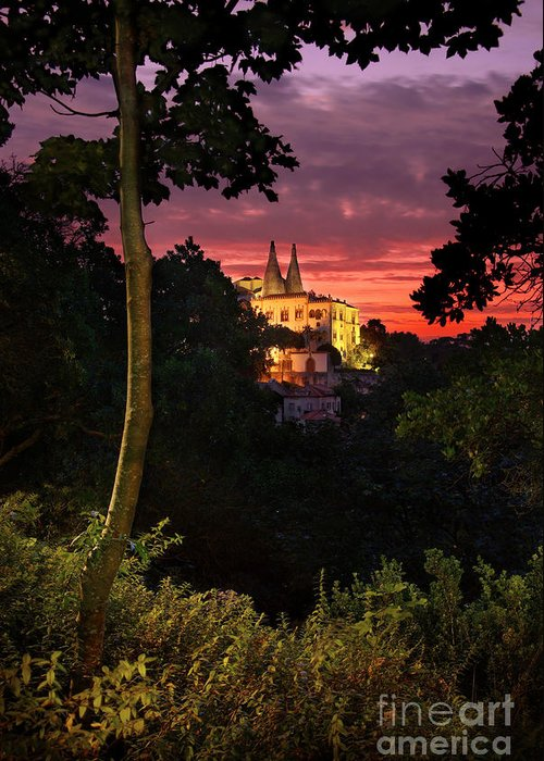 Ancient Greeting Card featuring the photograph Sintra Palace by Carlos Caetano