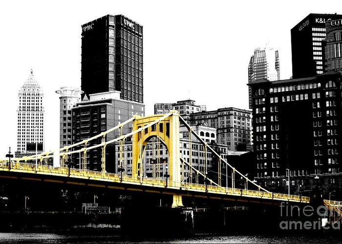Bridge Greeting Card featuring the photograph Sister #2 In Pittsburgh by Paul Henry