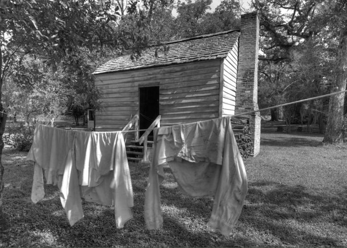 Slaves Greeting Card featuring the photograph Slave's Quarters by Bourbon Street