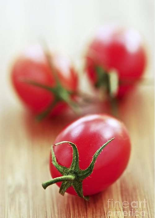Tomato Greeting Card featuring the photograph Small Tomatoes by Elena Elisseeva