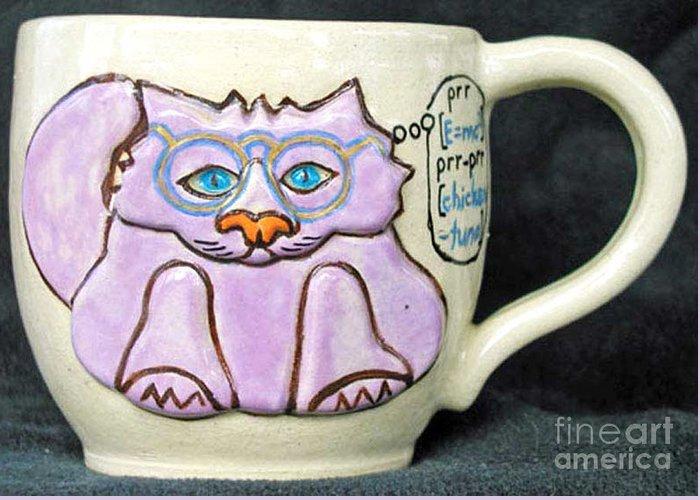 Kitty Greeting Card featuring the photograph Smart Kitty Mug by Joyce Jackson