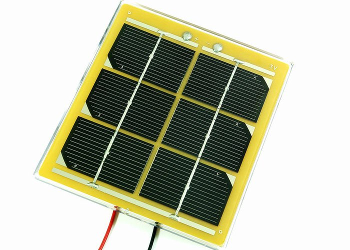 Solar Cell Greeting Card featuring the photograph Solar Cell by Friedrich Saurer
