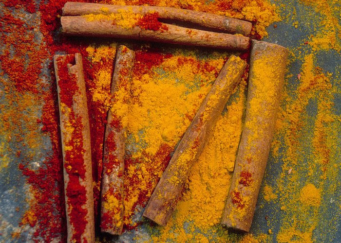 Works Greeting Card featuring the photograph Spices by Bernard Jaubert