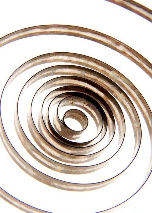 Circle Greeting Card featuring the photograph Spiral by Bernard Jaubert