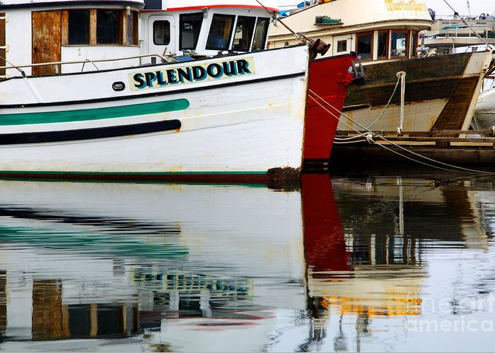Fishing Boats Greeting Card featuring the photograph Splendour by Bob Christopher
