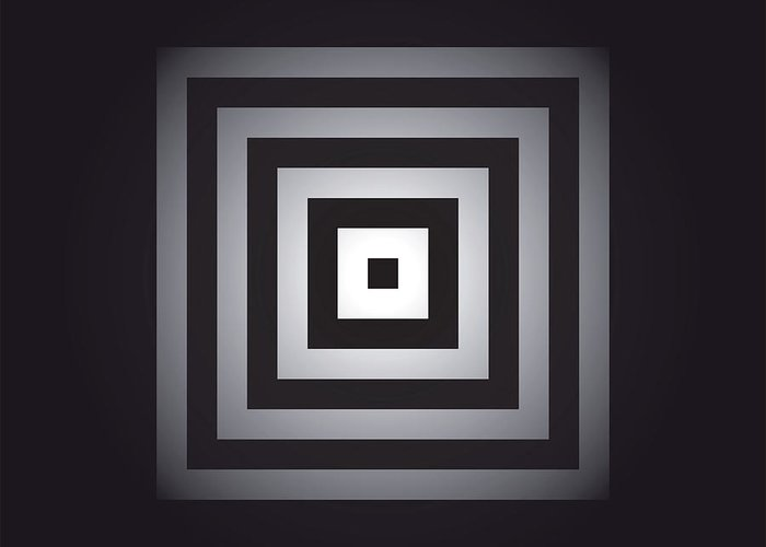 Optical Greeting Card featuring the digital art Square Pulse V15.1 by Guardians of the Future