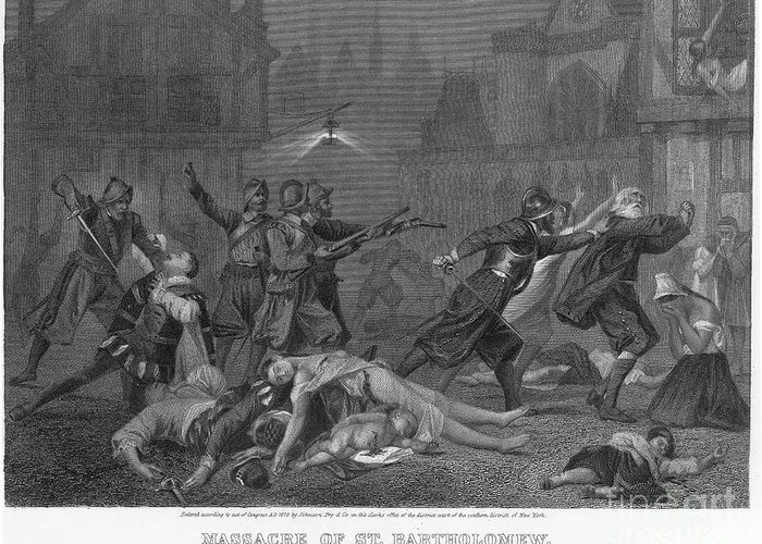 1572 Greeting Card featuring the photograph St Bartholomews Massacre by Granger