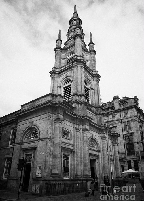 Saint Greeting Card featuring the photograph St Georges-tron Church Nelson Mandela Place Glasgow Scotland Uk by Joe Fox