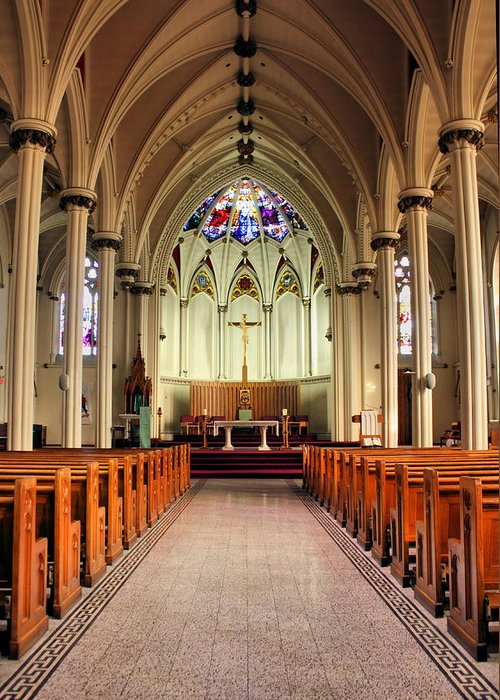 Church Greeting Card featuring the photograph St. Mary's Basilica Halifax by Kristin Elmquist
