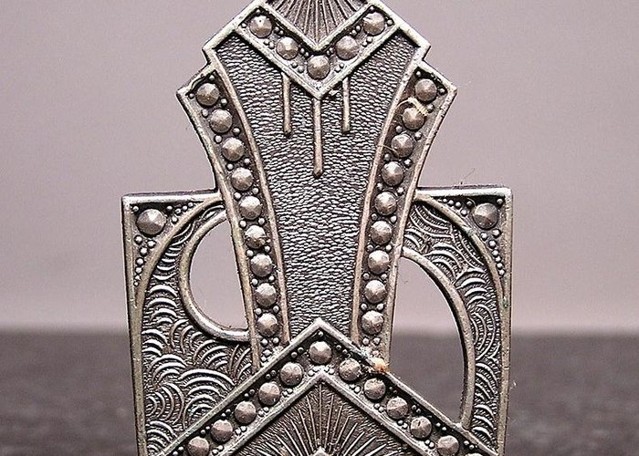 Art Deco Greeting Card featuring the jewelry Stampings 27 by Dwight Goss