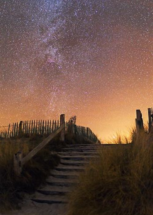 Astronomy Greeting Card featuring the photograph Stars In A Night Sky by Laurent Laveder