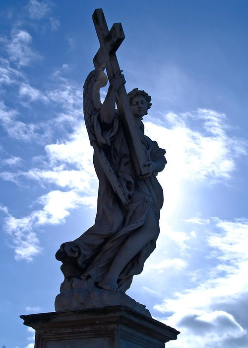 Rome Greeting Card featuring the photograph Statue In Rome by Andres Leon