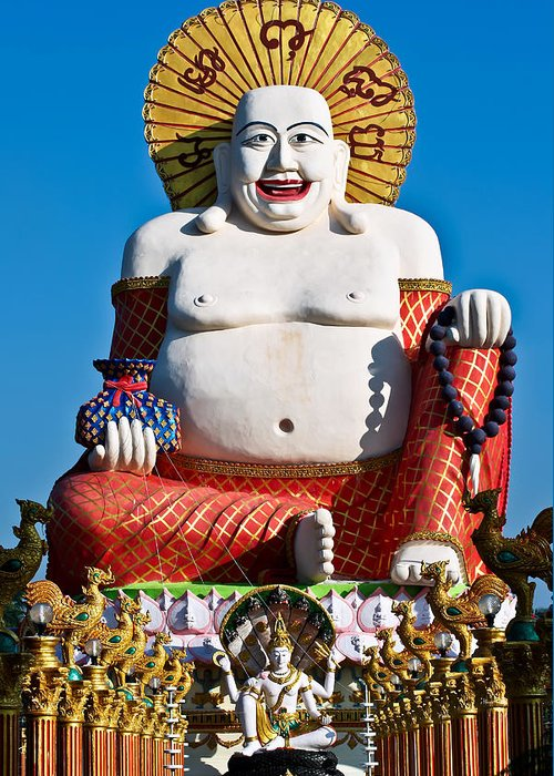 Asia Greeting Card featuring the photograph Statue Of Shiva by Adrian Evans