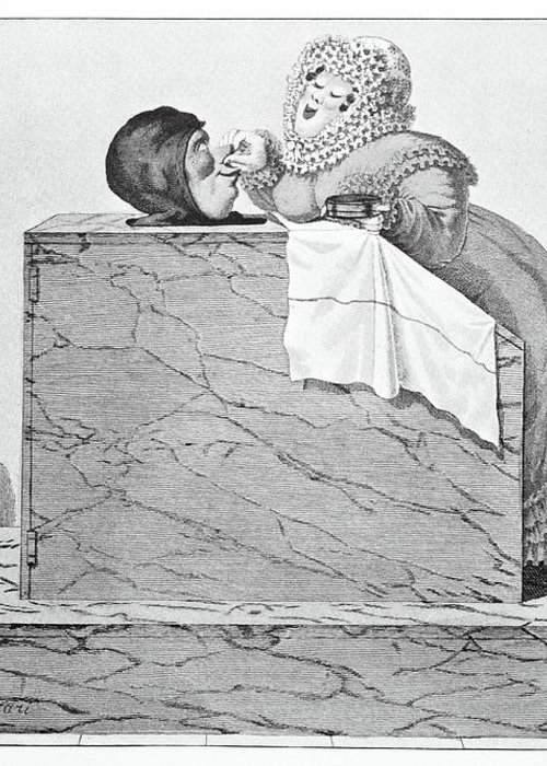 Human Greeting Card featuring the photograph Steam Bath, Satirical Artwork by
