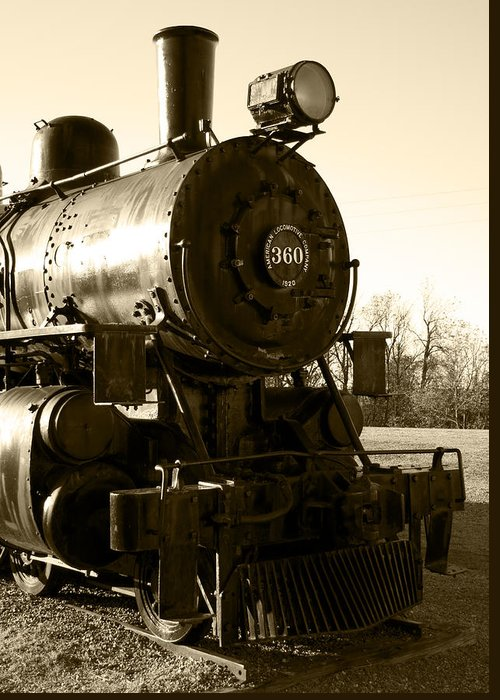 Antique Greeting Card featuring the photograph Steam Power by Ricky Barnard