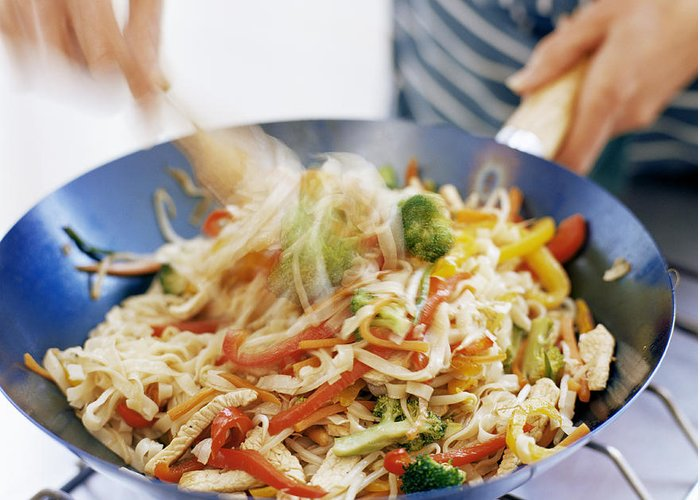 Stir Fry Greeting Card featuring the photograph Stir Fry by David Munns