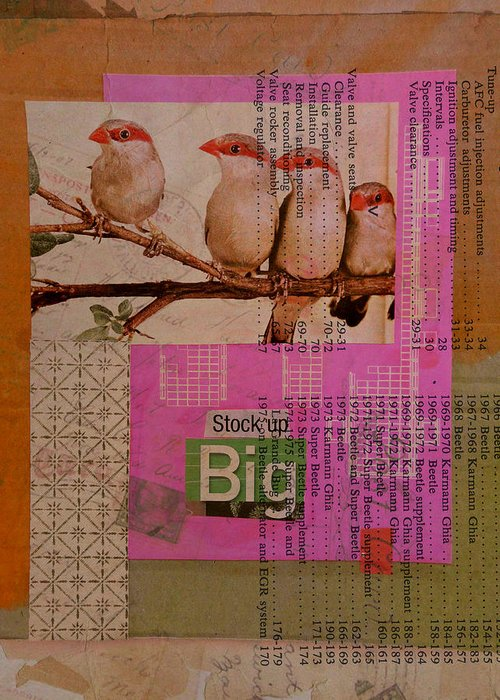 Collage Greeting Card featuring the mixed media Stock Up Big by Adam Kissel