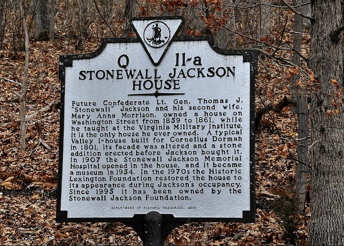 Stonewall Jackson House Greeting Card featuring the photograph Stonewall Jackson House by Todd Hostetter