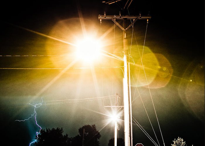 lightning Bolt Pictures Greeting Card featuring the photograph Stop It by James BO Insogna