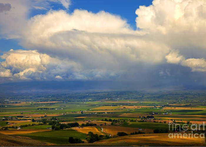 Kittitas Valley Greeting Card featuring the photograph Storm Over The Kittitas Valley by Mike Dawson