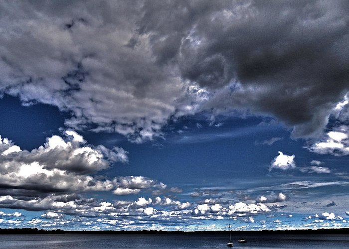 North America Greeting Card featuring the photograph Stormy Clouds ... by Juergen Weiss
