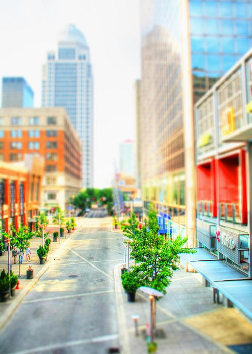 Architecture Greeting Card featuring the photograph Street's Of Louisville by Darren Fisher