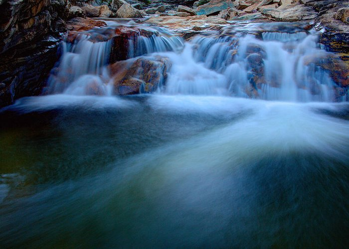Outdoor Greeting Card featuring the photograph Summer Cascade by Chad Dutson