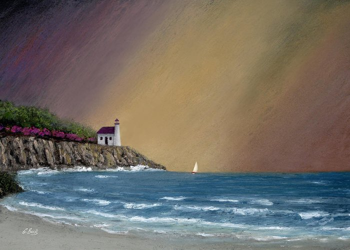 Summer Greeting Card featuring the painting Summer Squall by Gordon Beck
