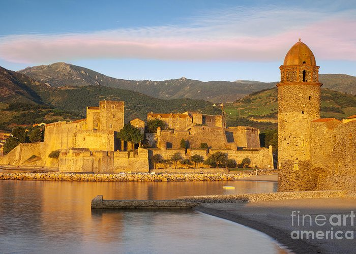 Beach Greeting Card featuring the photograph Sunrise In Collioure by Brian Jannsen