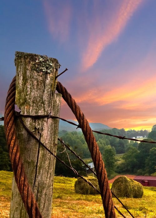 Andrews Greeting Card featuring the photograph Sunrise Lasso by Debra and Dave Vanderlaan